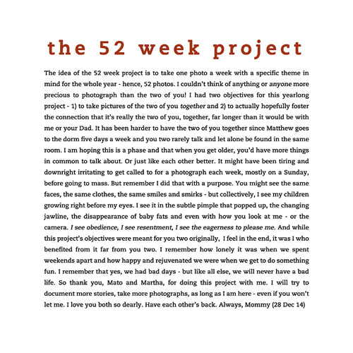 PROJECT 52 – 2014 EDITION