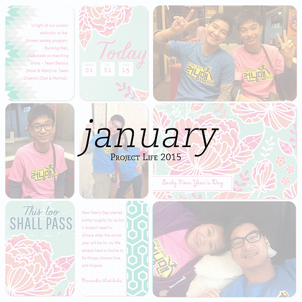 2015 Project Life: January Pages