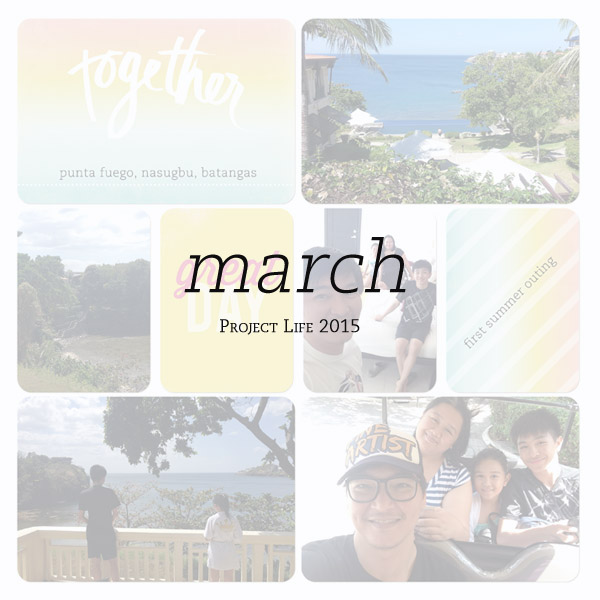 2015 Project Life: March Pages