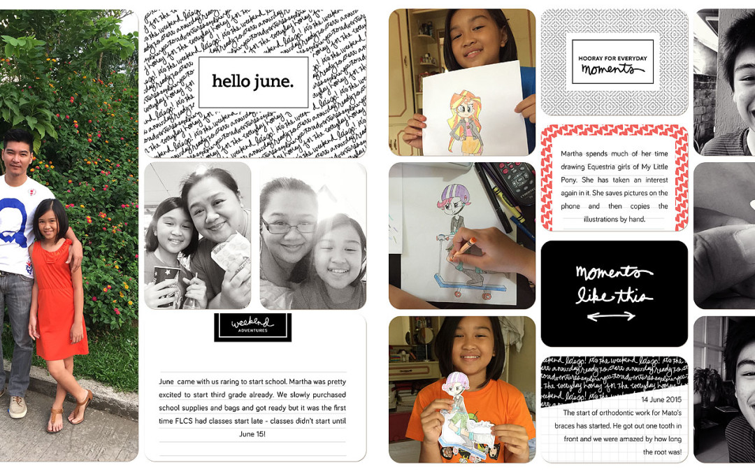 2015 Project Life: June Pages
