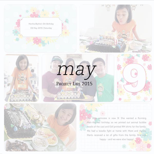 2015 Project Life: May Pages